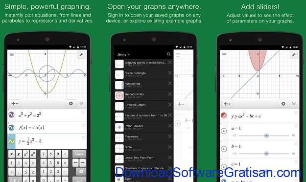Aplikasi Kalkulator Terbaik untuk Android Desmos Graphing Calculator