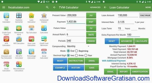 Aplikasi Kalkulator Terbaik untuk Android Financial Calculators