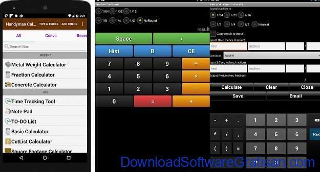Aplikasi Kalkulator Terbaik untuk Android Handyman Calculator