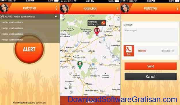 Aplikasi Keselamatan Wanita Terbaik untuk Android Raksha