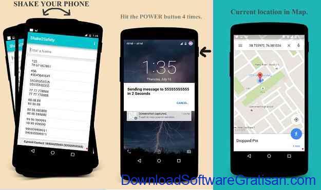 Aplikasi Keselamatan Wanita Terbaik untuk Android Shake2Safety