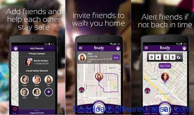 Aplikasi Keselamatan Wanita Terbaik untuk Android bSafe