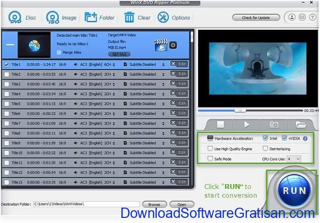 Aplikasi Konversi DVD ke MP4 & ISO WinX DVD Ripper Platinum - RIP