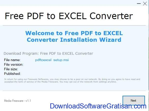 Aplikasi Konversi PDF ke Excel Offline Gratis Full Version SS2