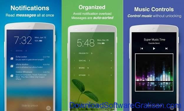 Aplikasi Kunci Layar Gratis Terbaik untuk Android Echo Notification Lockscreen