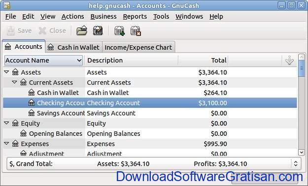 Aplikasi Laporan Keuangan PerusahaanGratis GnuCash