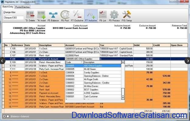 Aplikasi Laporan Keuangan PerusahaanGratis TurboCASH