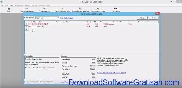 Aplikasi Laporan Keuangan PerusahaanGratis VT Cash Book