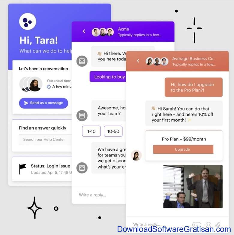 Aplikasi Live Chat untuk Website - Interkom