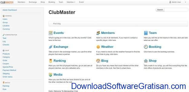 Aplikasi Manajemen Anggota Gratis Terbaik ClubMaster