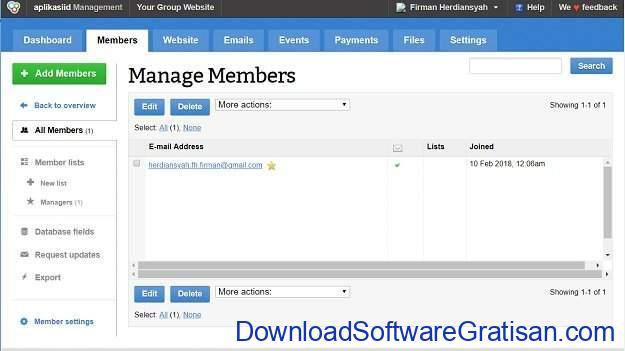 Aplikasi Manajemen Anggota Gratis Terbaik GroupSpaces