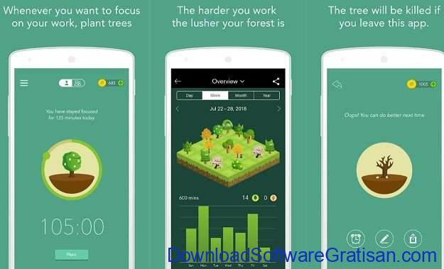 Aplikasi Manajemen Waktu Terbaik Forest