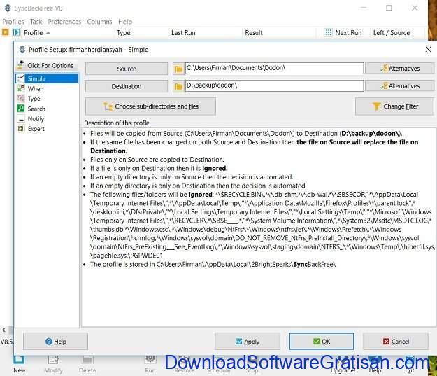Aplikasi Manajemen Waktu Terbaik SyncBackFree