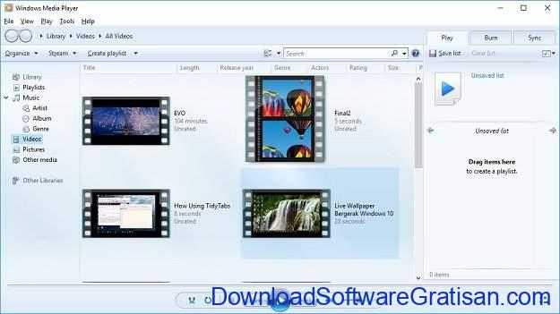 Aplikasi Media Player Gratis untuk PC Windows Media Player