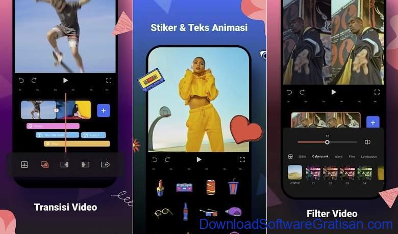 Aplikasi Membalikkan Video Reverse Gratis Terbaik Android FilmoraGo - Free Video Editor