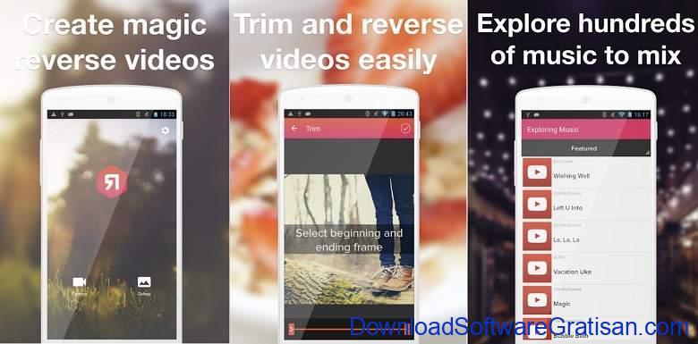Aplikasi Membalikkan Video Reverse Gratis Terbaik Android Reverse Video Master - ReverX - Magic Reverse Video