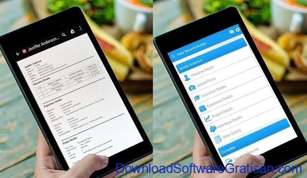 Aplikasi Membuat CV di Android dan iOS Easy Resume Builder App