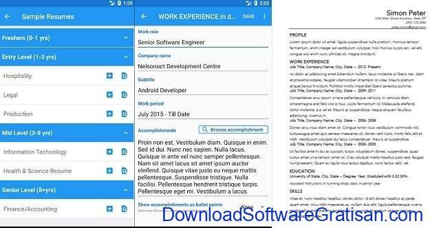 Aplikasi Membuat CV di Android dan iOS Resume Builder Free, CV Maker & Resume Templates