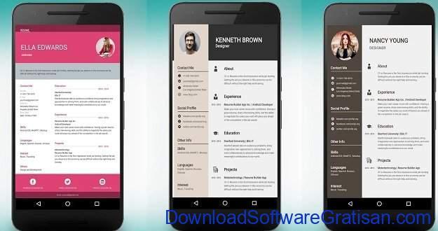 Aplikasi Membuat CV di Android dan iOS Resume Builder and CV maker app