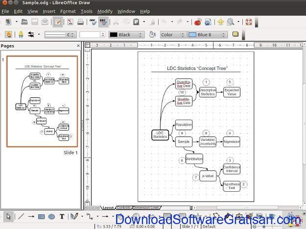 Aplikasi Membuat Flowchart DFD & ERD di Microsoft Windows Selain Visio LibreOffice Draw