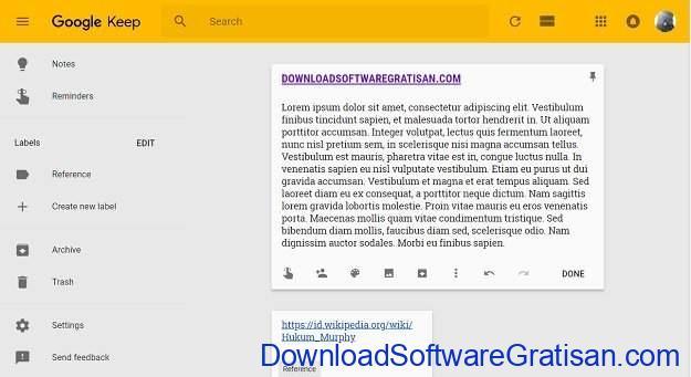 Aplikasi Memo atau Note Online Google Keep