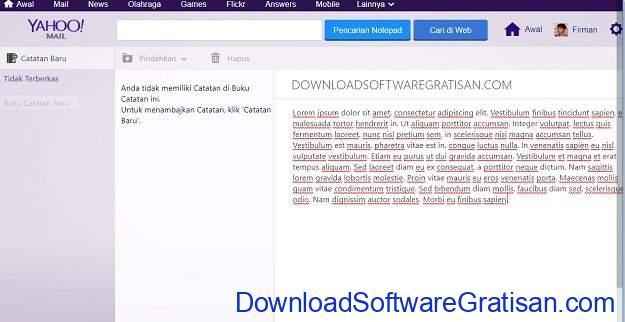 Aplikasi Memo atau Note Online Yahoo Notepad