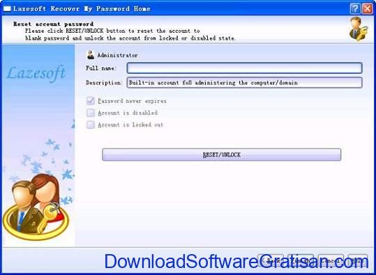 Aplikasi Mencari Kata Sandi Terbaik Windows - Lazesoft Recover My Password Home