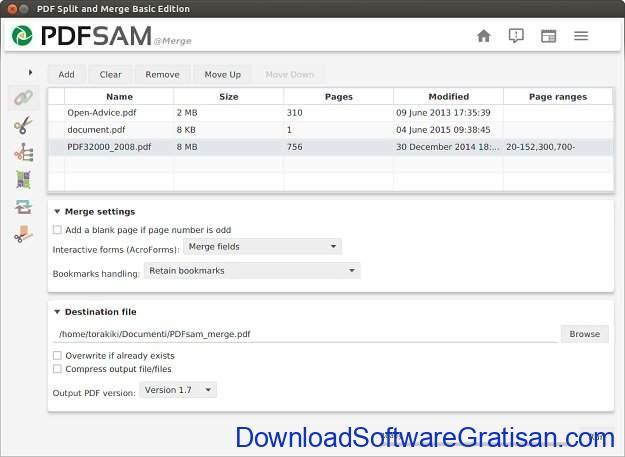 Aplikasi Menggabungkan & Memisahkan Halaman PDF PDF Split and Merge