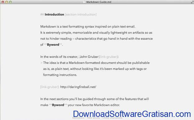 Aplikasi Menulis Terbaik untuk Mac - Byword