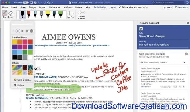 Aplikasi Menulis Terbaik untuk Mac - Microsoft Word