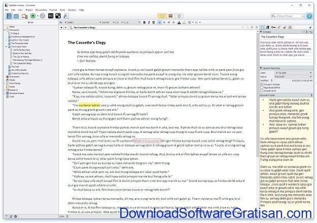 Aplikasi Menulis Terbaik untuk Mac - Scrivener