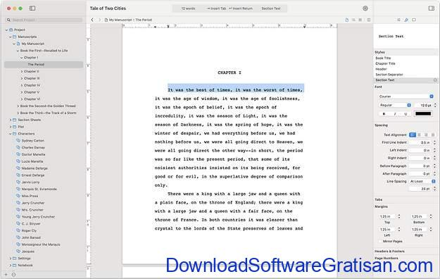 Aplikasi Menulis Terbaik untuk Mac - Storyist