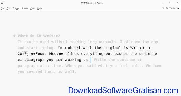 Aplikasi Menulis Terbaik untuk Mac - iA Writer