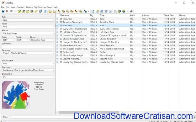 Aplikasi Mp3 Tag Editor Gratis Terbaik MP3Tag