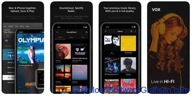 Aplikasi Musik Terbaik untuk Pengguna iPhone - Vox Music Player