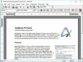 Aplikasi Office Portabel Gratis Terbaik - AbiWord Portable