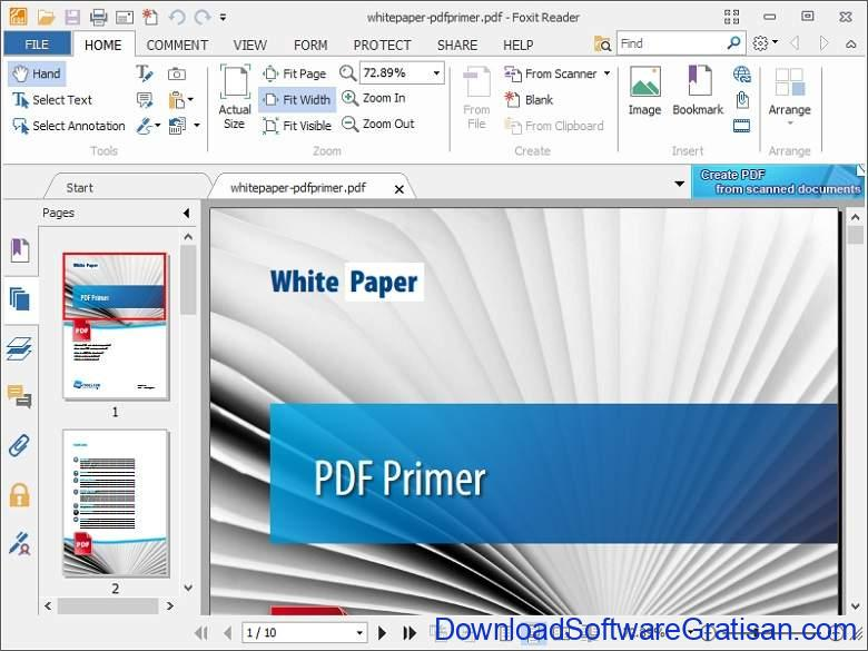 Aplikasi Office Portabel Gratis Terbaik - Foxit Reader Portable