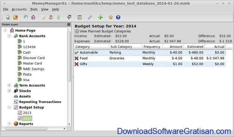 Aplikasi Office Portabel Gratis Terbaik - Money Manager Ex Portable