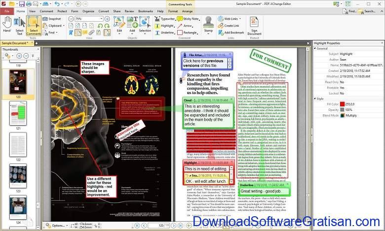 Aplikasi Office Portabel Gratis Terbaik - PDF-XChange Editor Portable