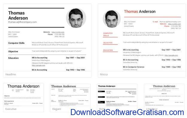 Aplikasi Online Membuat CV Lamaran Kerja PDF Gratis cvmkr