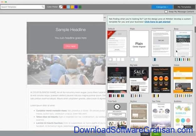 Aplikasi Online untuk Blast Email AWeber
