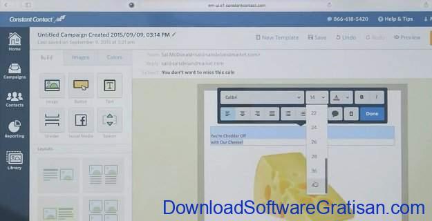 Aplikasi Online untuk Blast Email Constant Contact