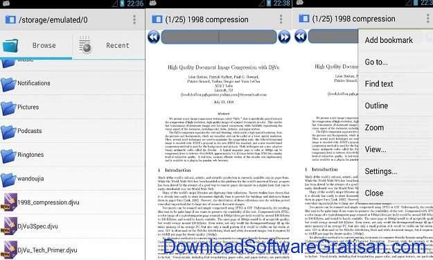 Aplikasi PDF Android Ringan Gratis Terbaik AnDoc - PDF & DJVU Reader