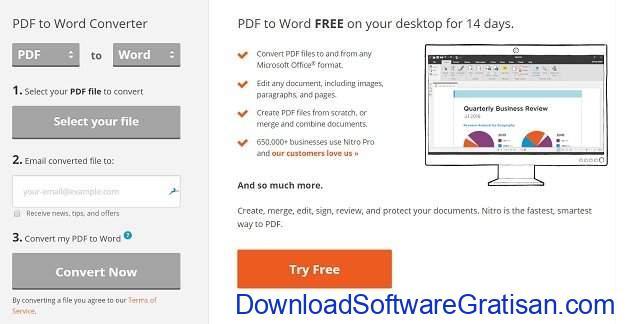 Aplikasi PDF to Word Converter Gratis Terbaik Nitro PDF to Word Converter