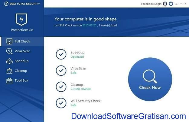 Aplikasi Paket Keamanan Internet Gratis Terbaik 360 Total Security