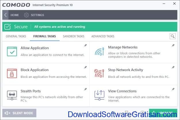 Aplikasi Paket Keamanan Internet Gratis Terbaik Comodo Internet Security