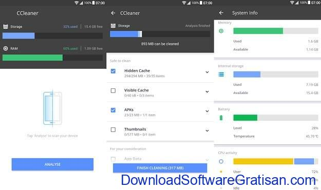Aplikasi Pembersih Gratis Terbaik Android CCleaner