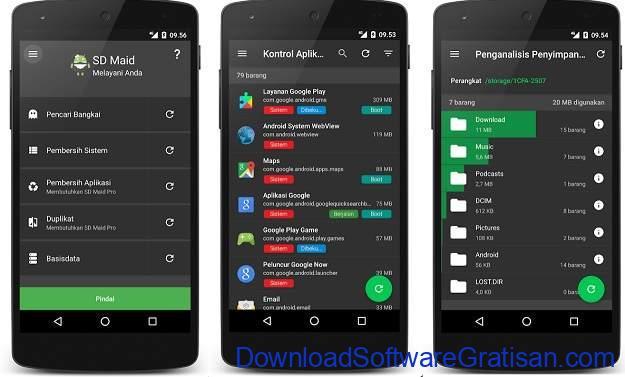 Aplikasi Pembersih Gratis Terbaik Android SD Maid