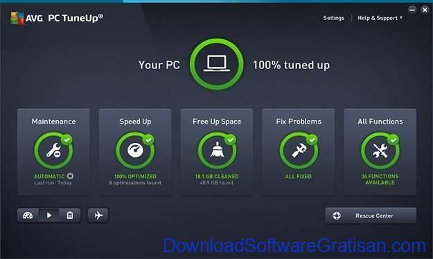 Aplikasi Pembersih Sampah PC Terbaik AVG PC TuneUp