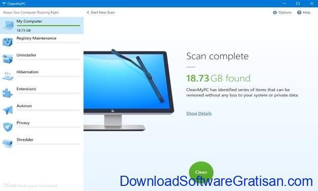 Aplikasi Pembersih Sampah PC Terbaik CleanMyPC